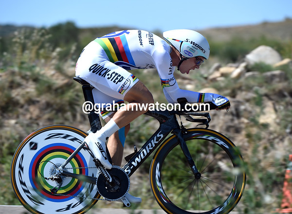 Tony Martin won the time trial, beating all the specialists and the overall contenders in the Vuelta - this is why he's the World Champion..!