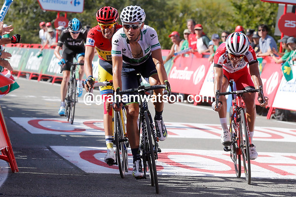 Alejandro Valverde takes second-place ahead of Rodriguez and Contador...