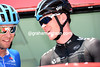 """So, which bike are you using today"", Chris Froome asks of Ryder Hesjedal..."