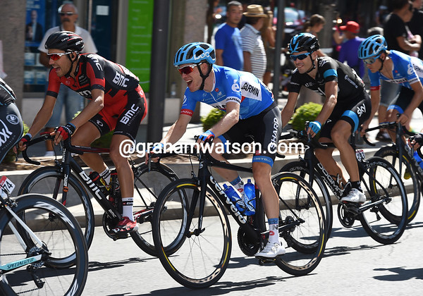 What's making Lawrence Warbasse, Andrew Talansky and Phillip Deignan laugh so much..?
