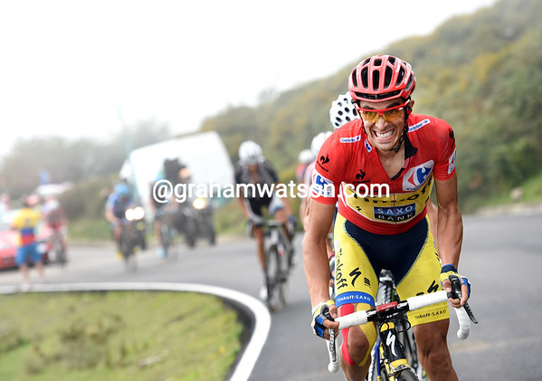 Contador attacks again, he know Chris Froome has been dropped..!
