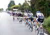Sinkeldam of Giant-Shimano is fish-taling at the back of a fast-travelling peloton - there's no let up in the crazy pace...