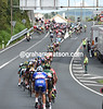 The peloton is producing some massive speed as it races along the undulating roads of Galicia..!