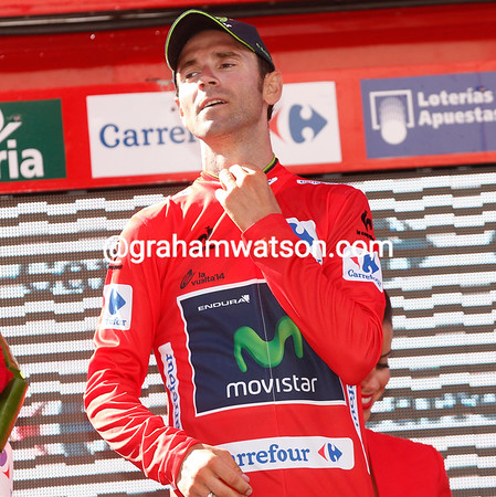 Alejandro Valverde becomes the new race-leader...