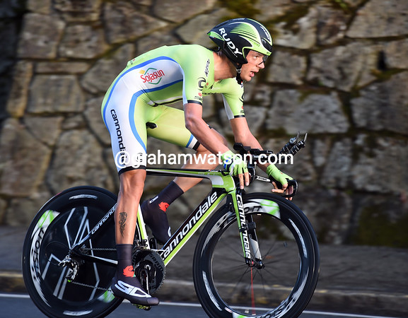 """Damiano Caruso took 68th at 1' 15"""" in Santiago, and ended his Vuelta in 9th overall..."""