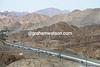 The Dubai Tour peloton is climbing through terrain more similar to Oman now...