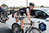 """""""Sit up now"""" - Danilo Hondo hets his seat-post fixed on the move..."""