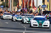 In the police race to the line, the Bugatti wins easily from the Ferrari, McLaren and the Bentley...