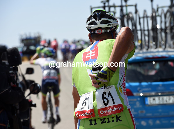 Peter Sagan is loading up a few bottles as well, but only for himself...