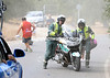 Two Guardia Civil motorcyclists have managed to crash to heighten the sense of drama today..!