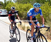 Ryder Hesjedal and Johann Tschopp have established a tentative escape after a rapid first hour's racing...