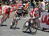 Three men are away from the start - Maxim Belkov, Julian Berard and Will Clarke...
