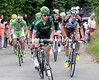 Thomas Voeckler responds by kicking harder in the escape with Riblon and Moinard nearby...