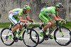 Peter Sagan has shot out of the peloton with Alessandro De Marchi...