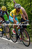 Nibali is pulling away with Jean-Christophe Peraud, another gain to be added to his overall lead...