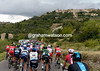 The town of Gordes welcomes the Tour peloton, which has yet to chase hard...