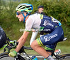 Simon Yates has become detached from the peloton in the storm, in any case this is the 21-year-old's last day at the race...
