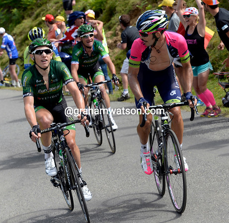 Gautier has provoked a final escape that contains Jose Serpa, Thomas Voeckler, and Michael Rogers...