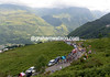The small peloton climbs to Val Louron, with the gap down to about three-minutes now...