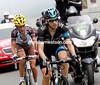Mikel Nieve now leads on the Tourmalet ahead of Biel Kadri...