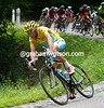 Nibali hurtles down the descent, as cool and composed as ever...