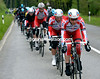 Katusha take control of the chasing, and the race...