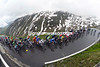 The smooth surface of the Furka Pass has helped the peloton stay in touch with the escape...