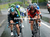 Six men have escaped after 20-kilometres - led by Phillip Deignan and Lawrence Warbasse...