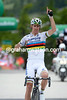 Rui Costa wins stage nine into Saas-Fee - and wins the race overall..!
