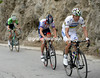 Rui Costa finally makes a move in front, dropping Frank and Mollema with two-kilometres of climbing to go...