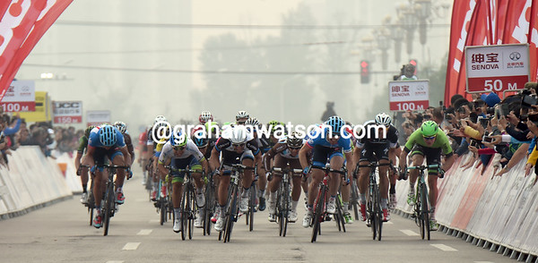 The sprint into Zhangjiakou is led by Ewan, Mezgec and Farrar - but who'll win..?!