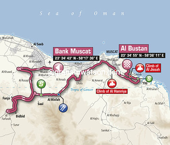 Tour of Oman Stage 3: Bank Muscat > Al Bustan, 145kms