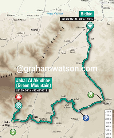 Tour of Oman Stage 5: BidBid > Jabal Al Akhdar, 148kms