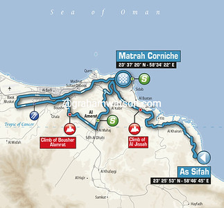 Tour of Oman Stage 6: As Sifah > Matrah Corniche, 147kms