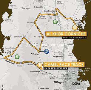 Tour of Qatar Stage 2: Camel Race Track > Al Khor Corniche, 160kms