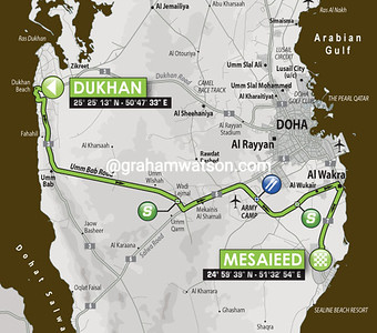 Tour of Qatar Stage 4: Dukhan > Mesaieed, 135kms