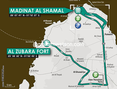 Tour of Qatar Stage 5: Al Zubarah > Madinat Al Shamal, 159kms