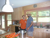 Fancher and Osama with some of their produce on the counter.   They have an awesome farm.