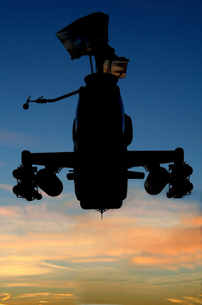 Chopper in sunset