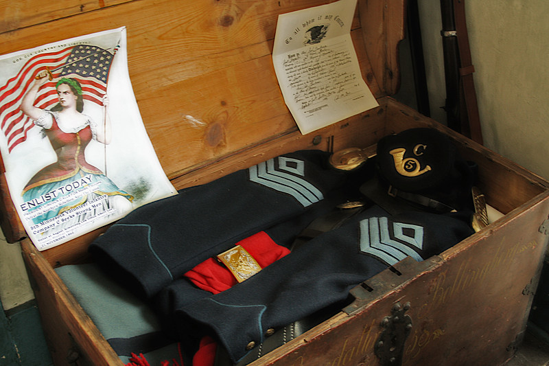 Old Civil War chest