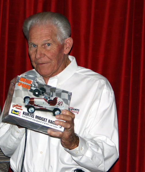 Arlen Kurtis with new Midget Car Kit