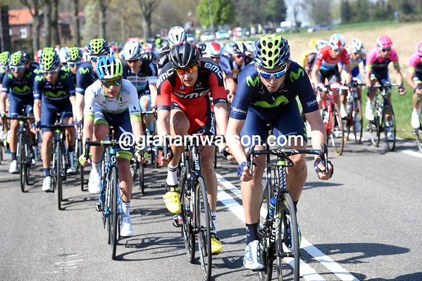 Movistar is starting to chase along with BMC and Green Edge...