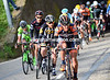 There's a fight going on to get into the 'morning' escape - Roompot, MTN, Cult and Bardiani swarm to the front in the opening kilometres...