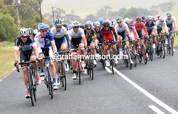Etixx seem to be controlling the peloton, but there's little sign of a chase, nor even panic...