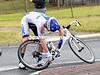 John Murphy is unhurt but his bike needs a quick-fix...