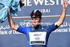 Mark Cavendish is a proud wearer of the Paul Smith-designed leader's jersey