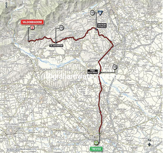Giro d'Italia Stage 14:  Treviso > Valdobbiadene, 59.4 kms ITT