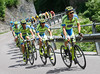 Tinkoff is starting to increase its pace on the Ponte Arche climb...