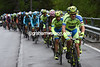 Chris Juul-Jensen leads the Tinkoff train in pursuit, although the gap is less than two minutes...