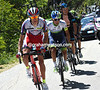 Pavel Kochetkov leads Chaves, Kiryienka and Visconti on to the first major climb...